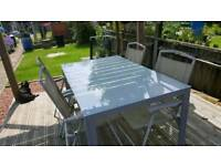 Outdoor table and 5 chairs garden