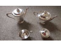 Viners of Sheffield Teapot & Coffee Set - Alpha Plate