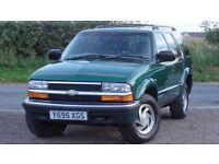 Chevrolet Blazer 4.3 V6 Auto, 2001 / Y Reg, 106k Miles, Green, MOT: 1 Year