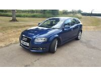 Audi A3 2.0 Diesel Sportback 5dr. Half leather seats. Audi SatNav. Start/Stop.