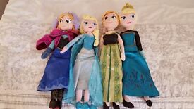 Frozen Elsa and Anna large soft dolls x4 bought from the disney store