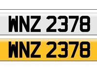 Cheap WNZ 2378 private cherished personalised personal registration plate number