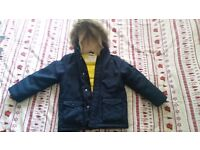 BHS Boys Winter Coat - age 6 - 7 years - excellent condition