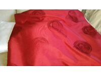"108"" DROP X 66"" DEEP RED CURTAINS (2 PAIRS)"
