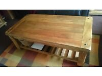 Solid Mango Wood (Light Colour) Coffee Table + Side Table