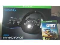 Xbox one bundle logitech G920 driving force steering wheel