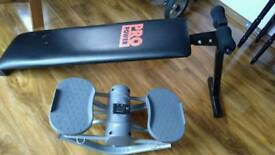 Exercise bench and stepper