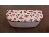 GOOD CONDITION! flowery patterned ottoman storage space