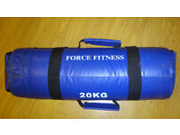 SAND BAG 20KG BLUE POWER BAG FILLED WITH SAND very good condition