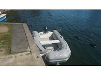 avon 260 inflatable rib with outboard motor
