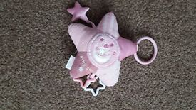 Miffy pink star soft toy with teething attachments in excellent condition