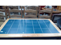 Blue Tiled topped table