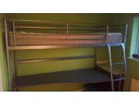 Ikea Svarta Loft Bed and Desk (mattress not included)