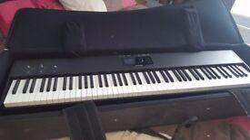 Studiologic SL88 Studio 88 Note MIDI Controller Keyboard + Gator GK88Slim Lightweight Keyboard case