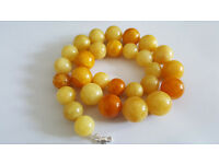 CHEAP CERTIFICATE NATURAL BALTIC AMBER BUTTERSCOTCH EGG YOLK NECKLACE JEWELERY Amber round beads