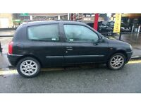 Renault Clio 1.2 Metallic black, Now MOT £100
