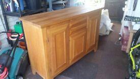 Sideboard in Oak Cupboards, drawers and wine shelf