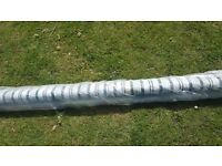 8ft wind out awning green stripes