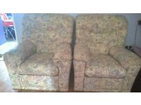 Reclining Chairs & 2 Seater Sofa
