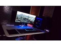High And Gaming PC Liquid Cooled 64GB RAM I7 3TB GTX980TI SSD & MONITOR QUHD 34 INCH 3440X1440
