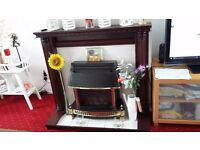 live fuel effect gas fire