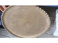 Large heavy solid copper Indian influence shield.