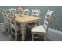 Truly Stunning 6FT X 3FT Shabby Chic Table Set - Newly Refurbished