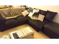 Corner Sofa, Two TVs,, Fridge Freezer, Bed, Desk, Book Shelf, Rugs, Curtains, Kettle, Toaster & MORE