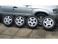 Subaru forester. new tyres 205 / 55 / 15. alloy wheels.