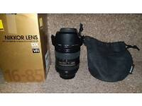 Nikon 16-85mm Lens and Software