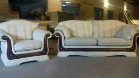 Free deliveryfabric sofa set cheap as will need a clean