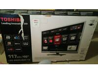 Toshiba 46TL963 46 inch 3d led tv excellent condition with the box