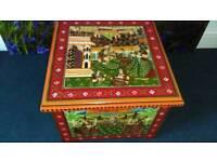Unusual wooden box beautiful Indian design