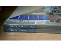2 packs brand new Quick Step laminate tiles part number UF1246 natural polished concrete effect.