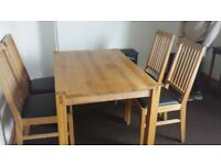 solid wood dinning table only(without chairs)