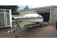 Picton 160 Sunsport Speedboat engine and trailer. Needs work before use.