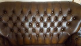 Thomas Lloyd 2 seater leather sofa in brown