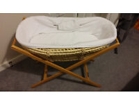 Mamas & Papas Moses Basket with Stand - Good conditon - local delivery available