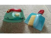 ELC dust pan and brush and iron pretend play