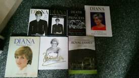 Diana princess of wales hardback books