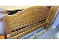 Heavy Duty Pine Double Bed Frame