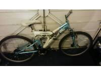 Mountain Bike frame with wheels