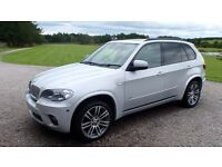 BMW X5 xDrive40D M Sport 3.0 High Specification, low mileage, pearl silver metallic