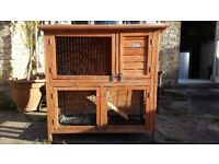 Rabbit/chicken/ferret/guine pig outdoor hut, amazing 2 storey with 4 doors and lifted top, only £50