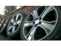 20 GENUINE RANGE OF ROVER SPORT ALLOY WHEELS & CONTINENTAL TYRES 5X120 (RANGE ROVER, BMW X5,VW T5 ET