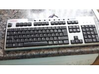 Computer keyboard with lead & plug, all working order