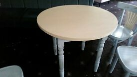 shabby chic dining table and 4 chairs was £80 now £50