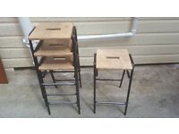 Sets of 4 school science stools ( we have 36 in total)