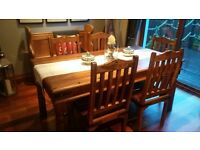 Beautiful wood dining table and 5 chairs