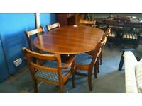 Reproduction dining table and 6 chairs